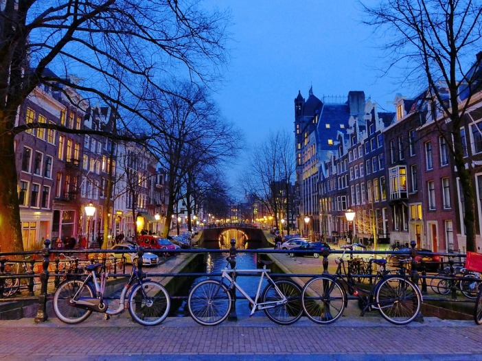 River Europe Canals Netherlands Bike Amsterdam